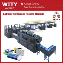 2015 automatic A4 size paper cutting packing machine price
