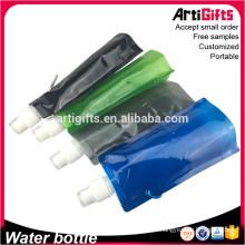 Botella plástica plegable de los deportes de la botella de la promoción de China