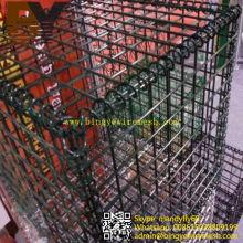 Caja de cesta de gaviones soldada con recubrimiento de PVC
