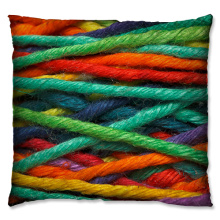 Green wool  coil style cushion
