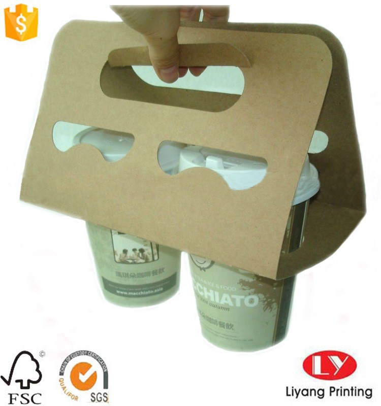 browm kraft paper cup holder