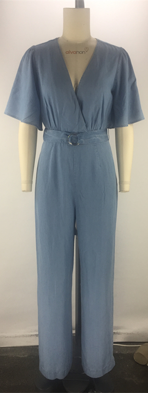 fashion short sleeve jumpsuit