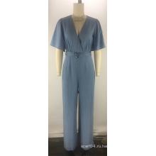 Tencel джинсовый ремень с коротким рукавом женский женский комбинезон