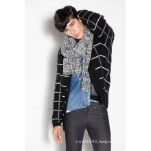 Winter Striped Knitted Men Cardigan with Button