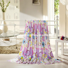 100% Polyester Rotary Printing Coral Fleece Blanket