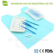 Kit odontológico descartável, kit odontológico de uso único, kit dental com 7 instrumentos