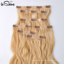 Real Human Clip In Top Quality Hair Extension