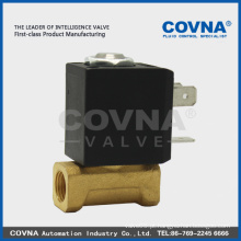 Válvulas de solenóide de 2 vias NC de actuação directa 1/8 '' DC24V
