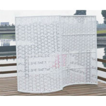 Fashion and Modern Outdoor White Garden Rattan Screen