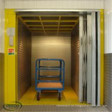 Transformador Gearless que construye el elevador eléctrico automático de la fábrica de Warehouse de la elevación del cargo