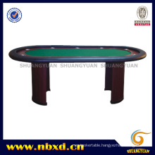 10 Person Poker Table with Wooden Leg (SY-T13)