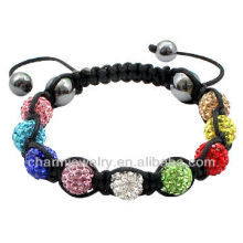 La arcilla cristalina rebordea la pulsera original de la pulsera del shamballa de China de la venta al por mayor BRS-0014