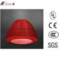 Linterna de diseño de la luz roja colgante de tela para el hotel