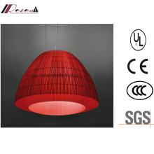 Luminaire pendentif en tissu rouge Lantern-Design pour hôtel
