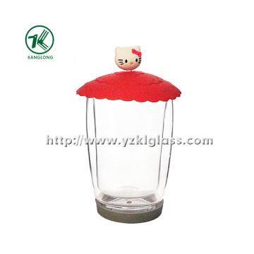 Двухстенная стеклянная бутылка от BV, SGS