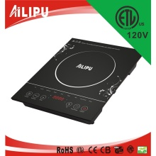 Appareil de cuisine 120V 1500W ETL 4 Digit Display Electric Induction Cooker
