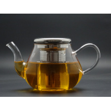 Purely Handwork 700ml Flower& Coffee Glass Tea Pot, Large Glass Teapots, Heat Resistant Glass Tea Pots Withinfuser