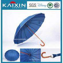 Silver Coating Fabric Cheap Price Blue Straight Umbrella