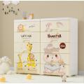 Gabinete de cajones de plástico de dibujos animados para almacenamiento
