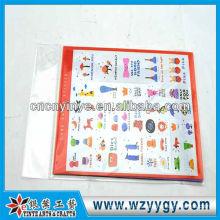Neue benutzerdefinierte PVC kleine Aufkleber für Kinder lernen