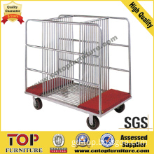 Steel Strong Glass Wheel Cart