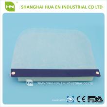 Protector facial dental desechable de plástico transparente