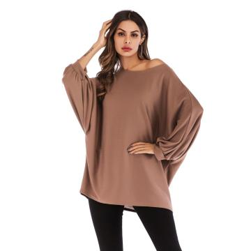 Lady Bat Langarm Damen Plus Size Bluse
