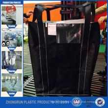 Grands sacs de noir de carbone, grande taille de sac de jumbo de sac, fibc avec la décharge inférieure supérieure ouverte avec le prix usine