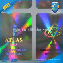 Autocollant anti-contrefaçon 3D Hologram, autocollant étiquette de sécurité laser personnalisé