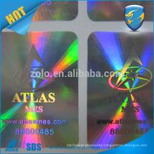 made in china custom pet hologram paper waterproof anti scratch sticker