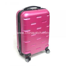 Pink rolling ABS luggage set