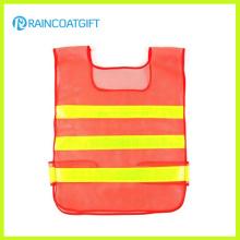 Gilet de sécurité à rayures réfléchissantes à haute visibilité Orange Mesh