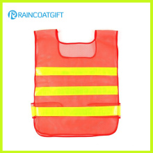 Orange Mesh High Visibility Reflective Stripe Safety Vest