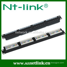 24 port 48 port cat5e cat6 utp patch panel