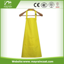 Tablier de mode de polyester jaune