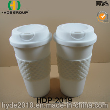 White Reusable Plastic Coffee Cup (HDP-2019)