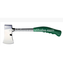 Camp axe with fiberglass handle axe, camp axe with plastic coated handle TPR grip