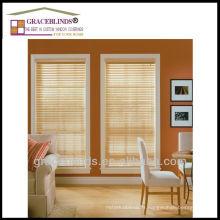 Échelle à bande avec inclinaison de cordon Best Window Blinds Option Stores 100% bois à lamelles de bois naturel