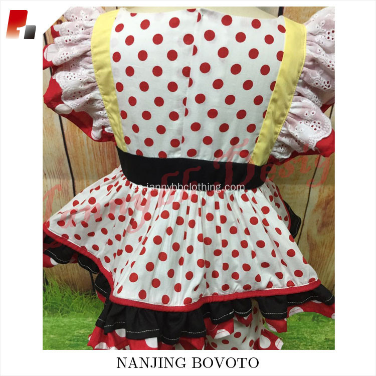 lovely cute girls fancy red polka dots