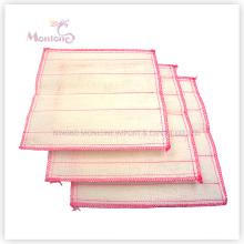 Serviette de cuisine de tissu de nettoyage de torchon de coton de 28 * 28cm pour le lavage de plat