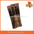 Bolsa de café instantáneo biodegradable de papel kraft para embalaje