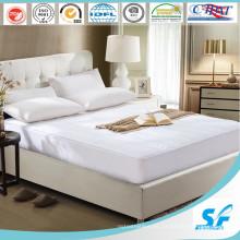 Protector de colchón acolchado para caja blanca hipoalergénica