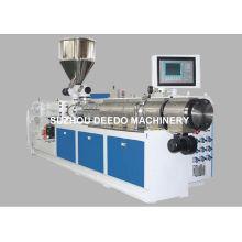 Máquina plástica da extrusora do gêmeo para a tubulação do PVC, produto do perfil do PVC
