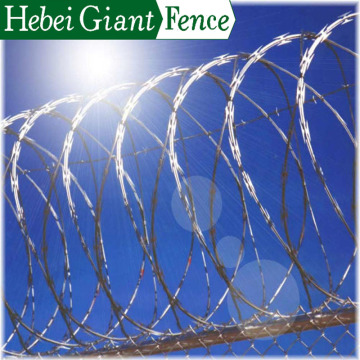 Hot Dipped Galvanized Razor Barbed Wire