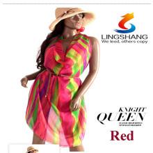 Hot 2015 Lady Scarf Girl Chiffon Chal Charm Pañuelos De Seda De Impresión Silk Chiffon Big Beach Toallas
