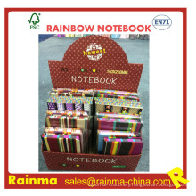 Rainbow Paper Notebook Side with Print