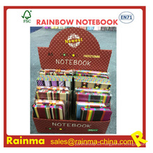 Rainbow Paper Notebook lado con impresión