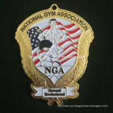 Medalla grande personalizada para gimnasio Americano Asociación Member′s recuerdo