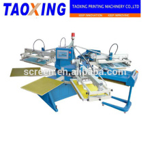 factory hot selling 6 color 2 dryer rotary textile screen printer with flash dryers device