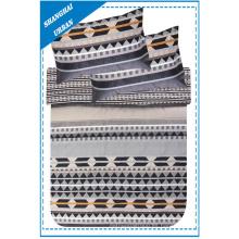 Diamond Shape Patchwork impreso poliéster edredón ropa de cama